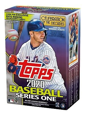 Topps 2020 Baseball Series One Blaster Box with Medallion Card