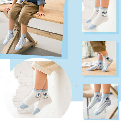 1 pair Kid Crew Ankle Socks Toddler Boy Girl Casual Multi Color Size 0-5Years