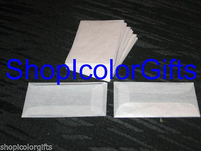 ShopIcolorGifts- 100 Brand New Glassine Envelopes Size #1 (1-3/4 x 2-7/8)