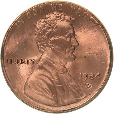 1984 D Lincoln Memorial Cent BU Penny US Coin