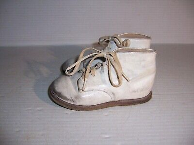 Vintage Edwards White Leather Baby Toddler Infant Shoes