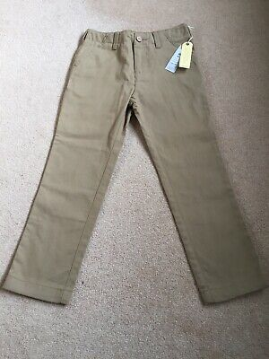 BNWT Boys Trousers Beige John Lewis Heirloom Collection Chino Trousers Size 6Y