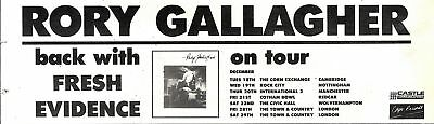 29/12/90Pgn84 Advert: Rory Gallagher Back With 'fresh Evidence' & Tour 3x11