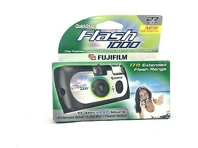 Fujifilm Quicksnap Flash 1000 Single Use  35mm Camera Disposable NIP Exp 9/02