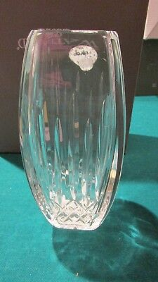 NEW w/ Tag Signed WATERFORD CRYSTAL Large 6-inch Lismore Pattern SQUARE VASE