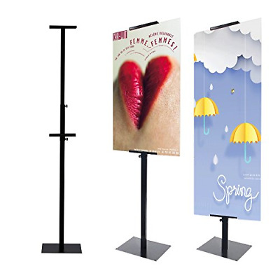 HUAZI Poster Display Stand Pedestal Sign Holder with Base for Indoor