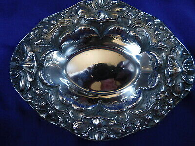 Gorham Repousse Sterling Silver Candy/Trinket Dish #A2737 - Excellent Cond Q