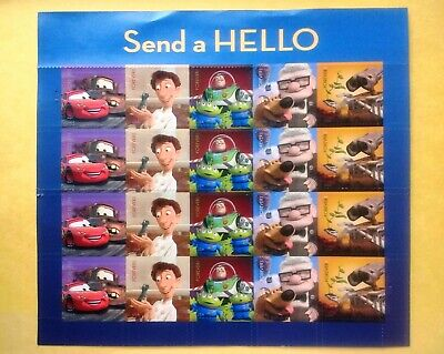 20 Disney Pixar Movies Send a Hello USPS Forever Stamps Sheet Cars Ratatouille