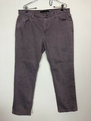 Levis Boyfriend Purple Wash Jeans Womens Size 14 Medium Casual Straight Leg Pant