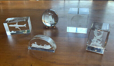 3D Laser Etched Cut Glass Ornaments 5 Collection