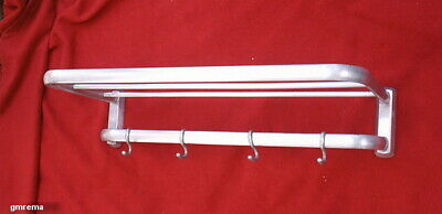 Kleine Art Deco  Bauhaus  Wand - Garderobe Alu  1930 - 1950  Art Deco Coat Rack