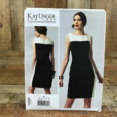 VOGUE Sew Pattern 1270 Kay Unger Mock Wrap Sheath Cocktail Dress 8-24 Woman Plus