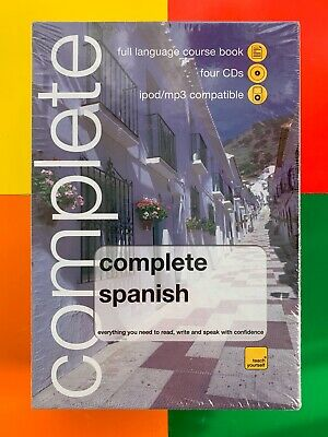 Teach Yourself Complete SPANISH Book + 4 CDs (MP3/ipod compatible) *NEW SEALED*