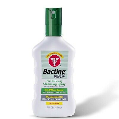 Bactine Max Pain Relieving Cleansing Spray 5 Ounces