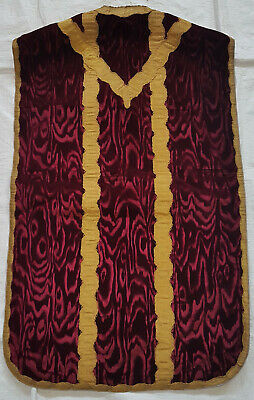 Weinrote Samt Kasel Messgewand Chasuble Kirche Messe