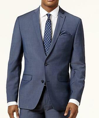 Bar III Men's Blue/Gray Slim-Fit Active Stretch Suit Jacket Size 38 R $425 NEW