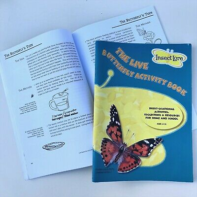 Insect Lore Butterfly Activity Book Actvities & Resources at Home/Garden 4-12yrs
