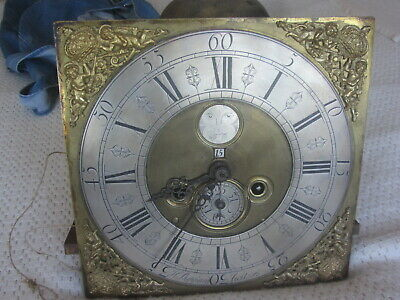 Rare Early 12 X 12 Brass Penny Moon 8 Day Clock And Works By H.sheppard