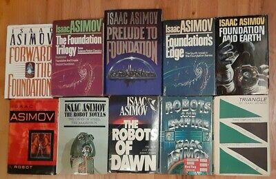 Isaac Asimov complete Foundation, Empire, & Robot series 15 novels 10 books lot