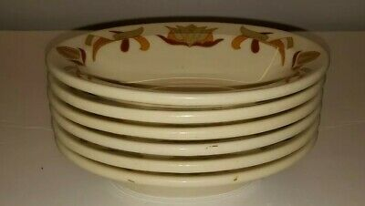 6 Old ivory syracuse china opco veggie bowls brown tan fields
