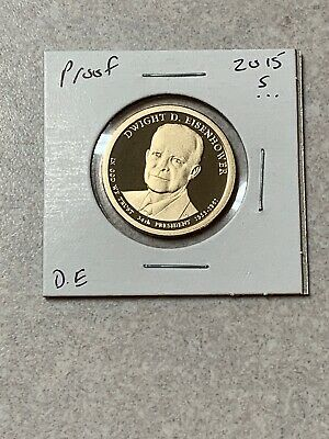 2015 P/&D Dwight D Eisenhower 1$ Dollar Coin Cover Limited Edition Mint code P54