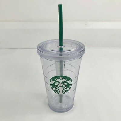 Starbucks Clear Acrylic Cold Cup Grande Tumbler 473ml 16oz Brand New