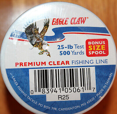 $0.004 a Yard Eagle Claw Lazer Line 12# Clear Tactical HP 8600 Yds Fishing Line