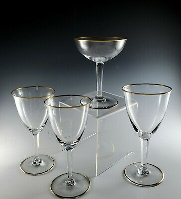 Lot of 4 BACCARAT Crystal DIRECTOIRE Wines, Water and Champagne Goblet, 1931-61