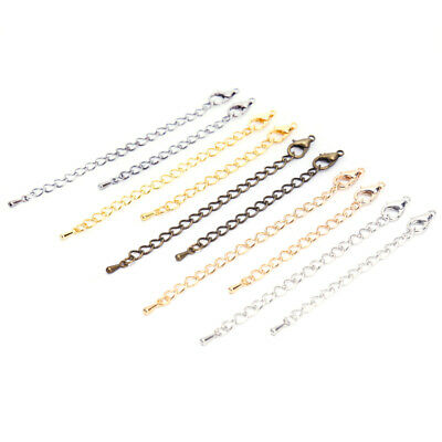 20Pcs/Lot Jewelry Lobster Clasp Extension Chains DIY Necklace Jewelry Making LS