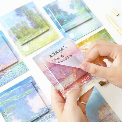 Creative Painting Pattern Bookmark Index Tab Pads Sticky Notes Memo Stationery