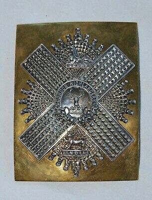 The Gordon Highlanders Officers Shoulder Belt Plate 1881 Pattern