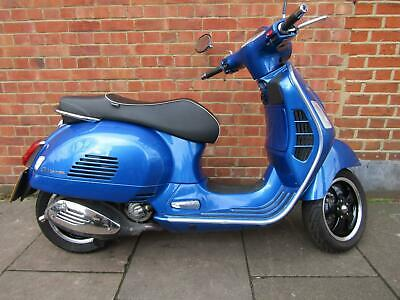 Blue 2015 Piaggio Vespa Gts 300 Only 4100 Miles Service History 2 Owners