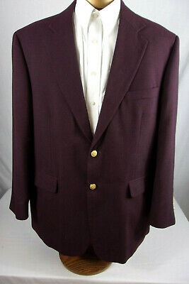 Nice 44R Stafford Blazer In A Purple/Plum Color With Gold Buttons Sp856