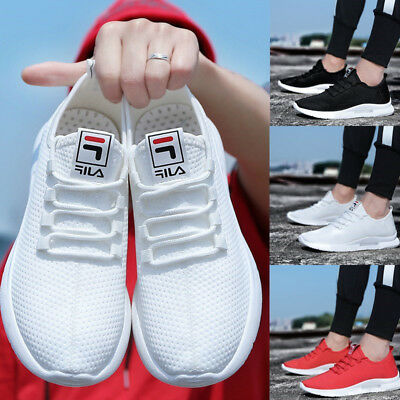 Men Trainers Teens Pumps Low-Cut Mesh Slip On Sneakers Breathable Shoes Size 6-9
