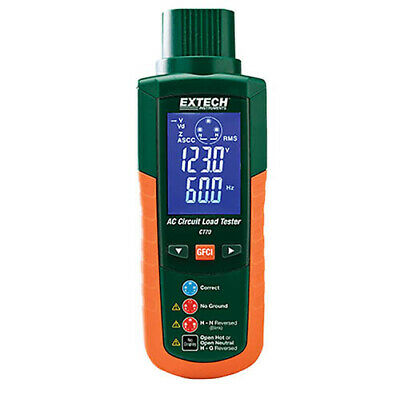 Extech CT70 AC Circuit Load Tester AC Load Handling & Outlet Tester