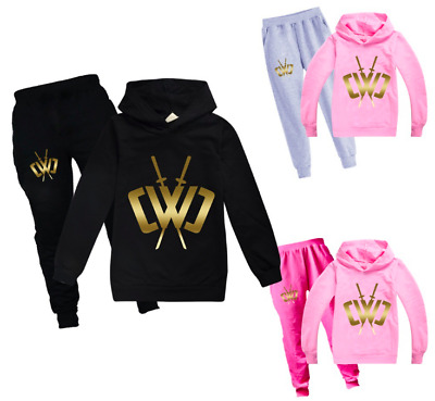 Hot Kids Golden logo Chad Wild Clay Casual Hoodies tracksuit Pullover Pant UK