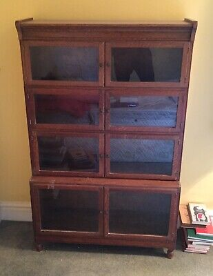 Minty Of Oxford Attractive Sectional Oak Glazed Bookcase