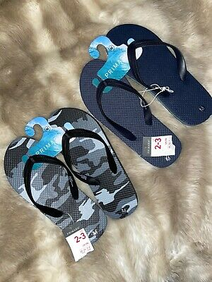 Boys Girls Unisex Set Of Two Pairs Flip Flops Size 2/3 Primark Sandal Bundle