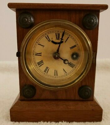 Antique Working 1865 F. KROEBER Mini Cottage Clock with Hubbell Lever Movement