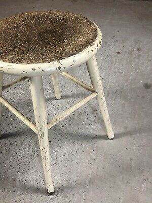Vintage Victorian Wooden Milking Stool Cork Top Quality Item