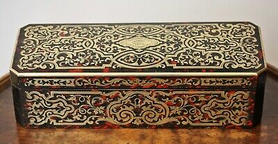 Stunning antique French boulle work glove box in fine condition