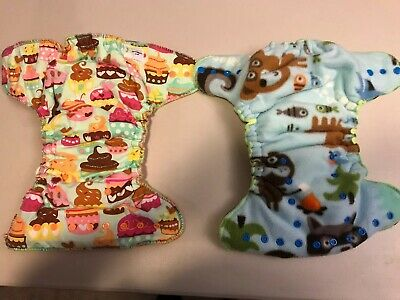 Lemon Berry Fluff Cloth Diapers - Set Of Two