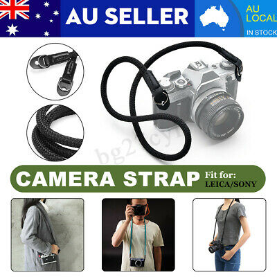HandMade Rope & Leather Braided Camera Single Shoulder Neck Strap For