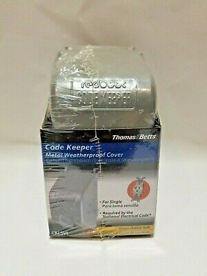 Thomas&Betts CODE KEEPER Metal Weatherproof Cover for Single Outlet