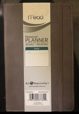 Mead Perpetual Daily Agenda  Planner  - Undated - Start Any Time