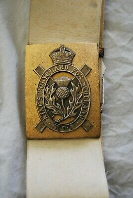 Royal Company Of Archers Kings Bodyguard Scotland Shoulder Belt Plate + Baldric