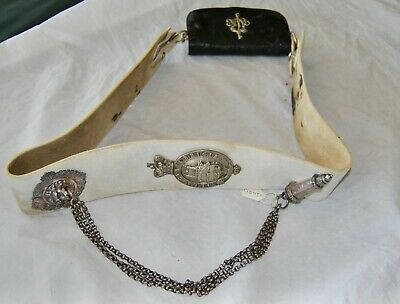 Cambridgeshire Rifle Volunteers Pouch Belt Pouch and Belt Plate Complete c1880