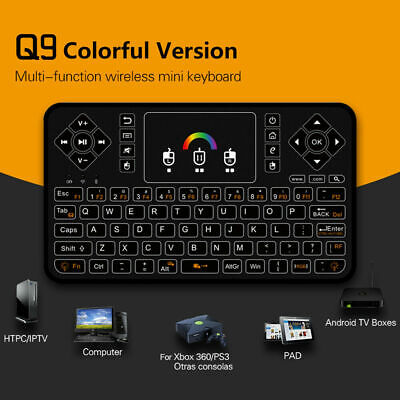 Black Wireless Mini Ultra Slim Keyboard and Mouse For Easy Smart TV Contol for LG 50PH670V 3D 50 Plasma Smart TV