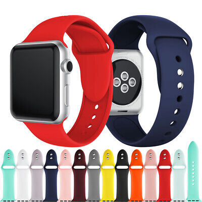 Soft Silicone Replacement Wristband Strap for Apple iWatch Series 5 4 3 2 1