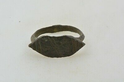Roman Byzantine Bronze ring engravings 100- 800 AD US size 2 3/4